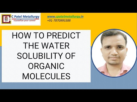 HOW TO PREDICT THE WATER SOLUBILITY OF ORGANIC MOLECULES