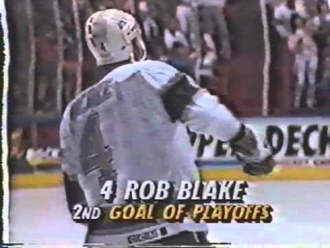 Rob Blake end-to-end goal - Kings vs Oilers - 1992 Smythe Division Semifinals - GM2 (4/20/92)