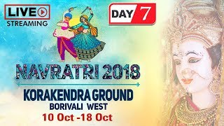 LIVE Navratri 2018 Day 7 - Korakendra Garba - Non Stop Gujarati Dandiya & Garba Dance - Garba Songs