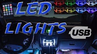 Cheap USB powered Car Ambient Lighting kit - install and review