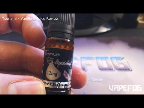 Tsunami Vanilla e-Juice Review   Plus Giveaway Update   VAPEFOG