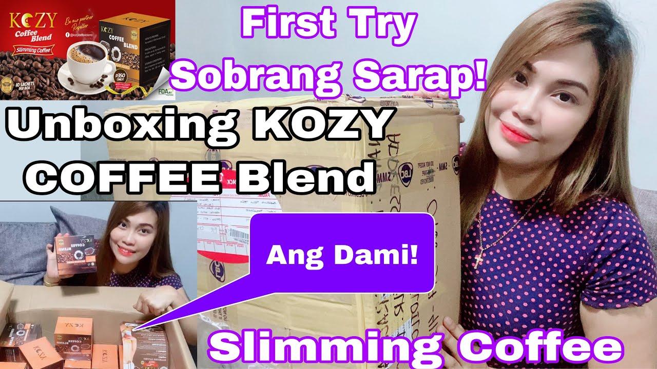 KOZY COFFEE BLEND PAMPAPAYAT   Unboxing Kozy Coffee Sobrang Sarap at Healthy   slimming Kozy Coffee