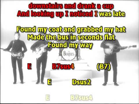 A day in the Life Beatles best karaoke instrumental lyrics chords