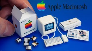 DIY Miniature Macintosh Computer Apple | No Polymer Clay! diy crafts
