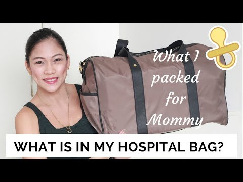What is in my hospital bag? | What I packed for mommy | Taglish