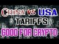 China vs Trump Impacting the Crypto Markets - ADA to $1.00? TRX to $0.25?