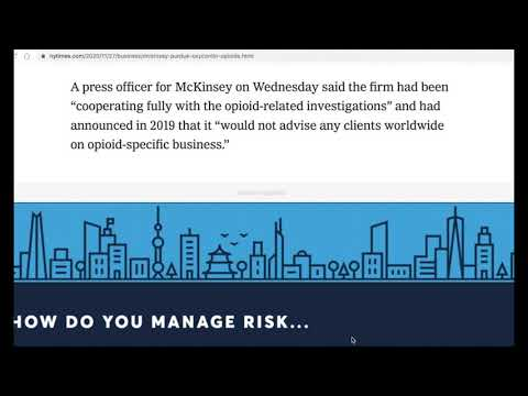 Daily News 11/28/2020 McKinsey Proposed Paying Pharmacy Companies Rebates for OxyContin Overdoses