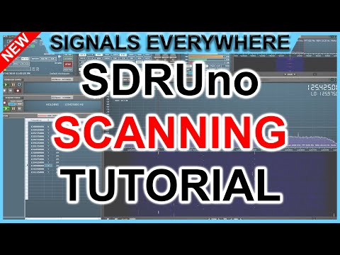 SDRUno Scanner Functionality! | How To Scan With Update 1 3