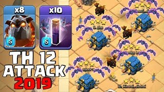 8 Lava + 10 Max Bat Spell + 16 Max Balloon+ Stone Slammer:: NEW TH12 WAR 3 STAR ATTACK STRATEGY 2019