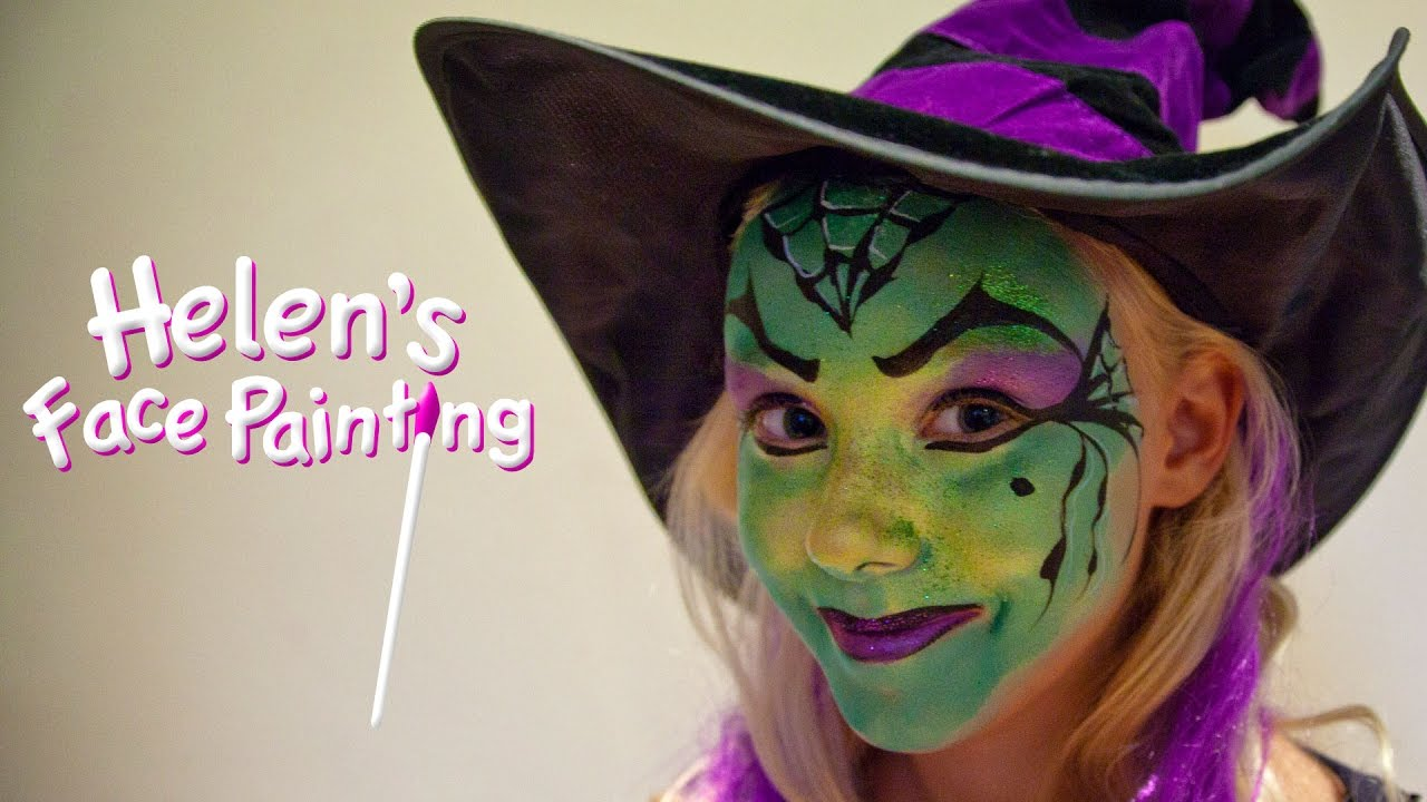 Halloween Witch Face Paint Tutorial  Childrens Face Paint Witch
