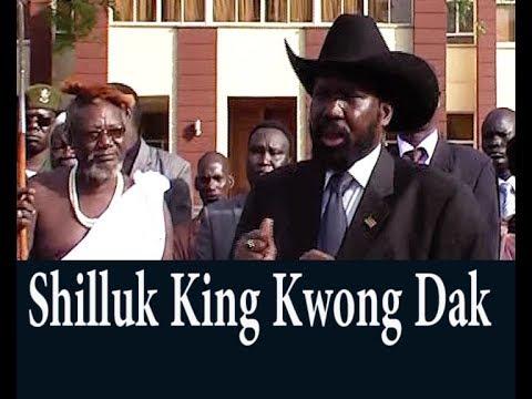 """Shilluk""""Chollo"""" King and Salva Kiir"""