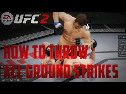 EA Sports UFC 2 Tips [PS4] - How To Throw Hooks, Hammerfists & Elbows On The Ground - 동영상