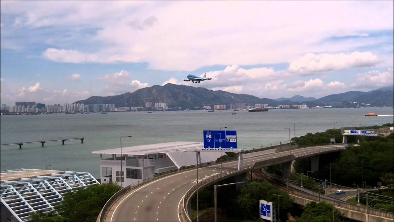 Hong Kong Airport Final Approaches From Regal Airport Hotel HD  YouTube