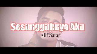 "Gambar cover Alif Satar - Sesungguhnya Aku [OST Drama ""Red Velvet""] (Lyric Video)"