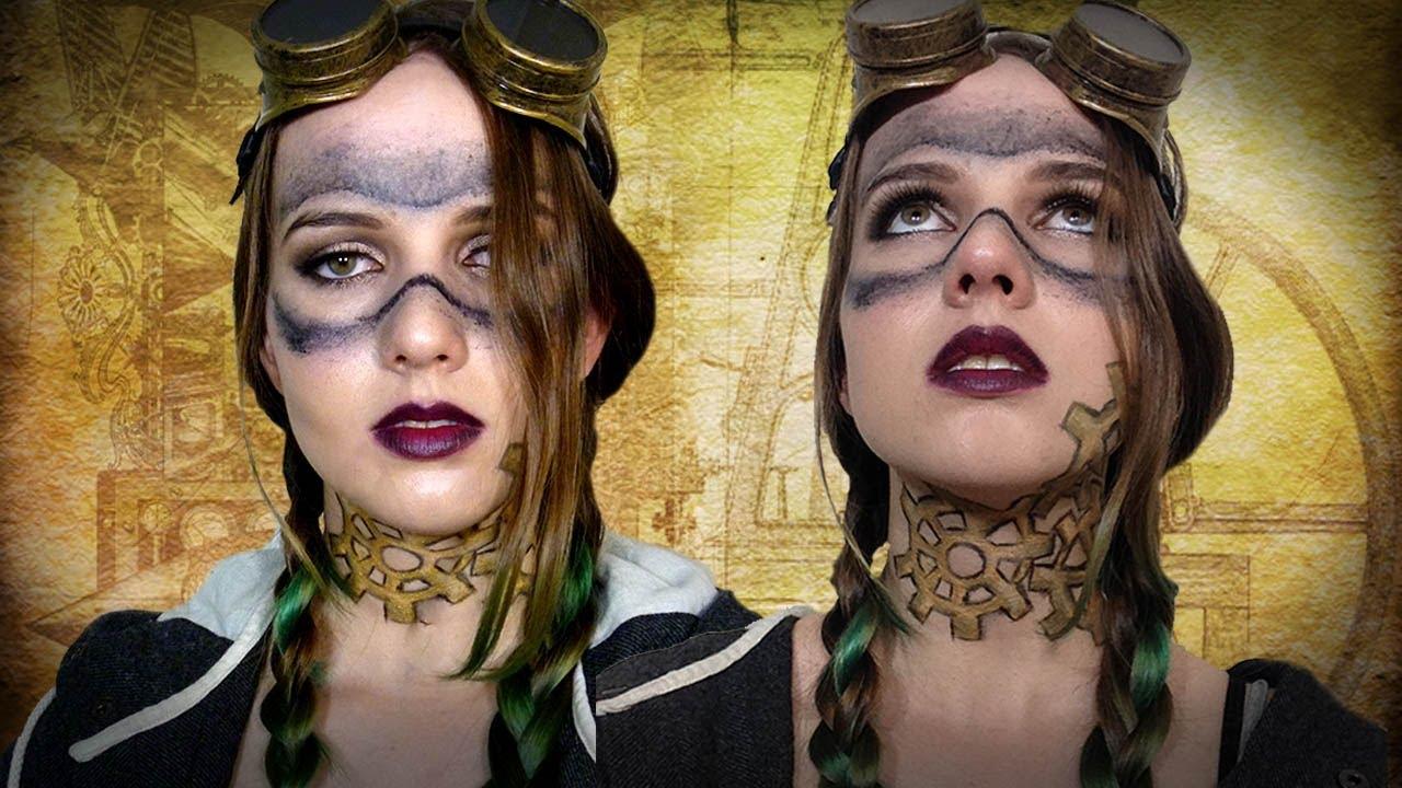 steampunk halloweencosplay makeup tutorial youtube