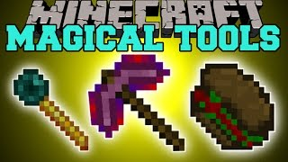 Minecraft: MAGICAL TOOLS (CREATE VILLAGERS, EAT FLESH, TELEPORT, & MORE!) Mod Showcase