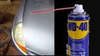 Limpando farol amarelado com WD40 antes e depois ford ka - wd-40 multiuso milagroso - faça vc mesmo