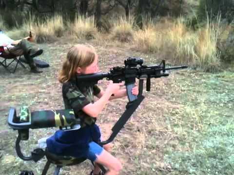 9 year old girl shooting ar 15 22 caliber youtube