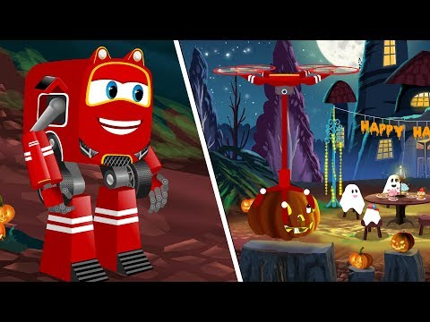Halloween Ghost Family And SuperCar Rikki in search of Puppy | Kids Cartoon Song