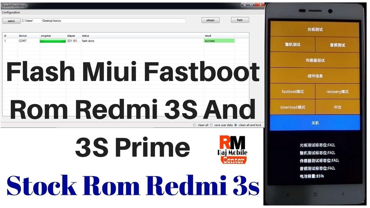 Flash Miui Fastboot Rom Redmi 3S/3S Prime Stock Rom