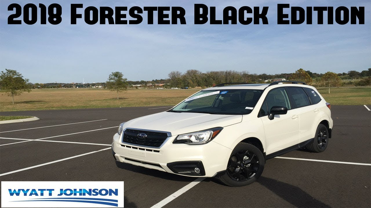 2018 subaru forester premium black edition review limited production youtube. Black Bedroom Furniture Sets. Home Design Ideas