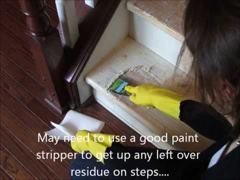 Refinish Hardwood Stairs That Were Carpeted   YouTube