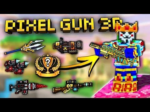 Top 10 FREE Weapons In Pixel Gun 3D! (New Update)