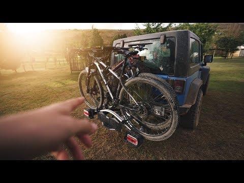 quadratec spare tire mounted bike rack
