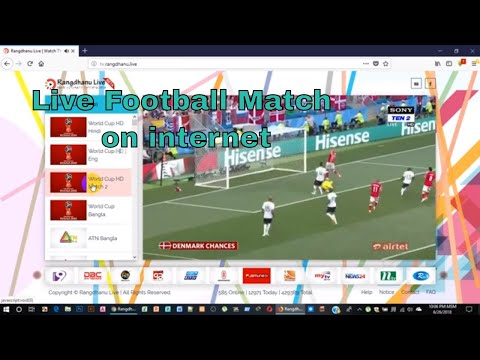How To Watch Football Match On Pc Using Internet