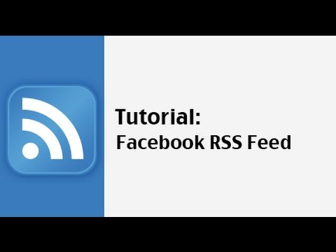 How to get a Facebook ID to build a Facebook RSS Feed