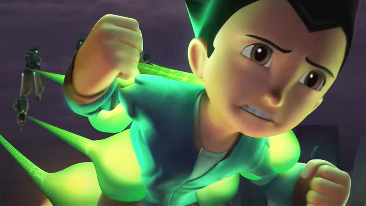 """Download Astro Boy (2009) Official Clip """"Escape from Metro City"""" - Freddie Highmore"""