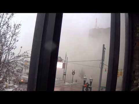 Demolition Of Genesee Towers Building In Flint, Michigan On December 22, 2013