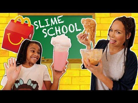 Slime School McDonald's Test Fail - Sneak Food in Class! New Toy School thumbnail