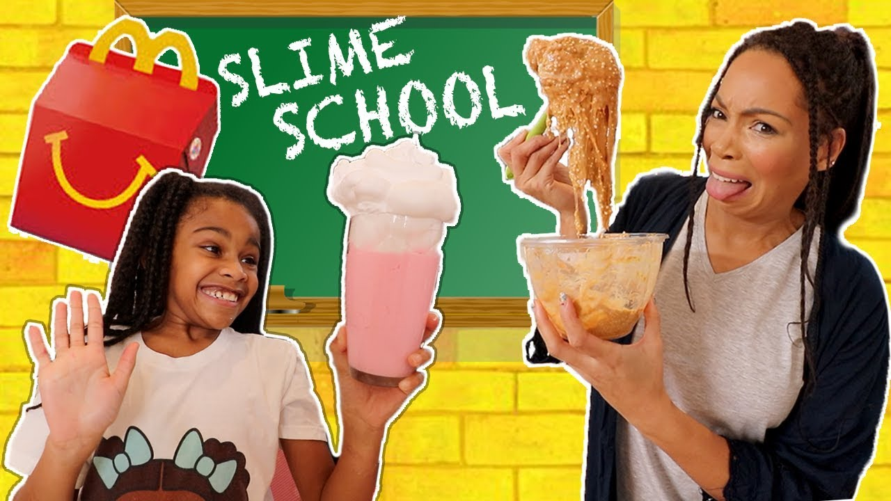 Download Slime School McDonald's Test Fail - Sneak Food in Class! New Toy School