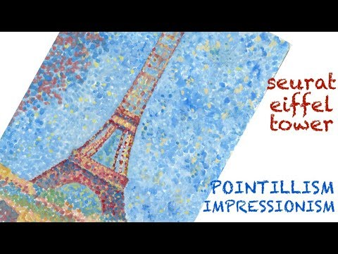Real-time Pointillism Eiffel Tower Demo
