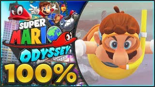 Super Mario Odyssey - Lake Kingdom 100% All Moons & Coins | Part 1! [🔴LIVE]