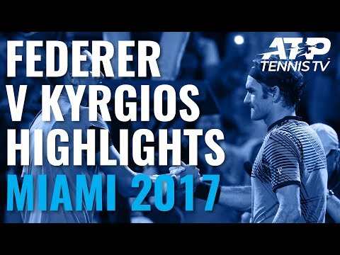 2017 - Federer almost drops one to a scrub at Miami