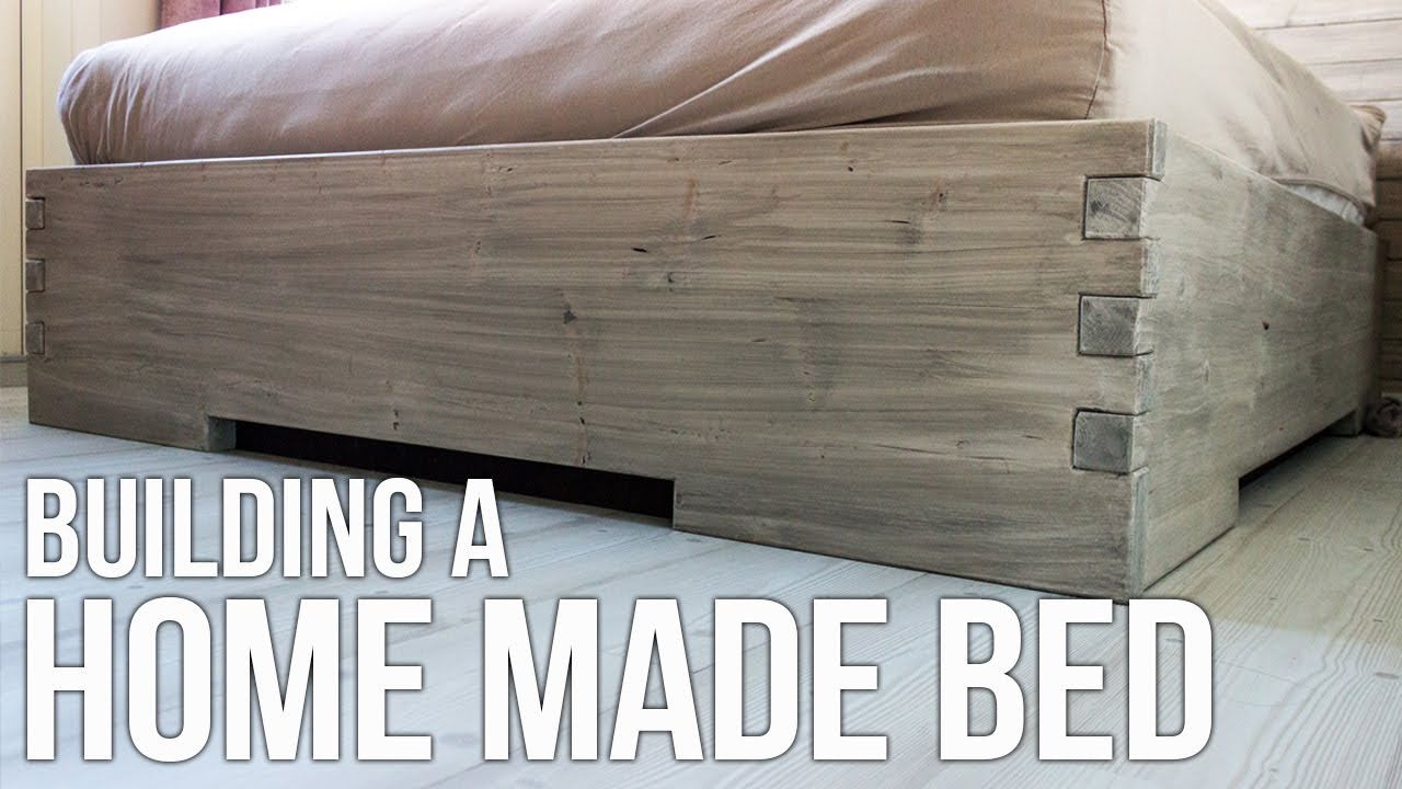Building A Homemade Bed Hjemmelaget Seng Youtube