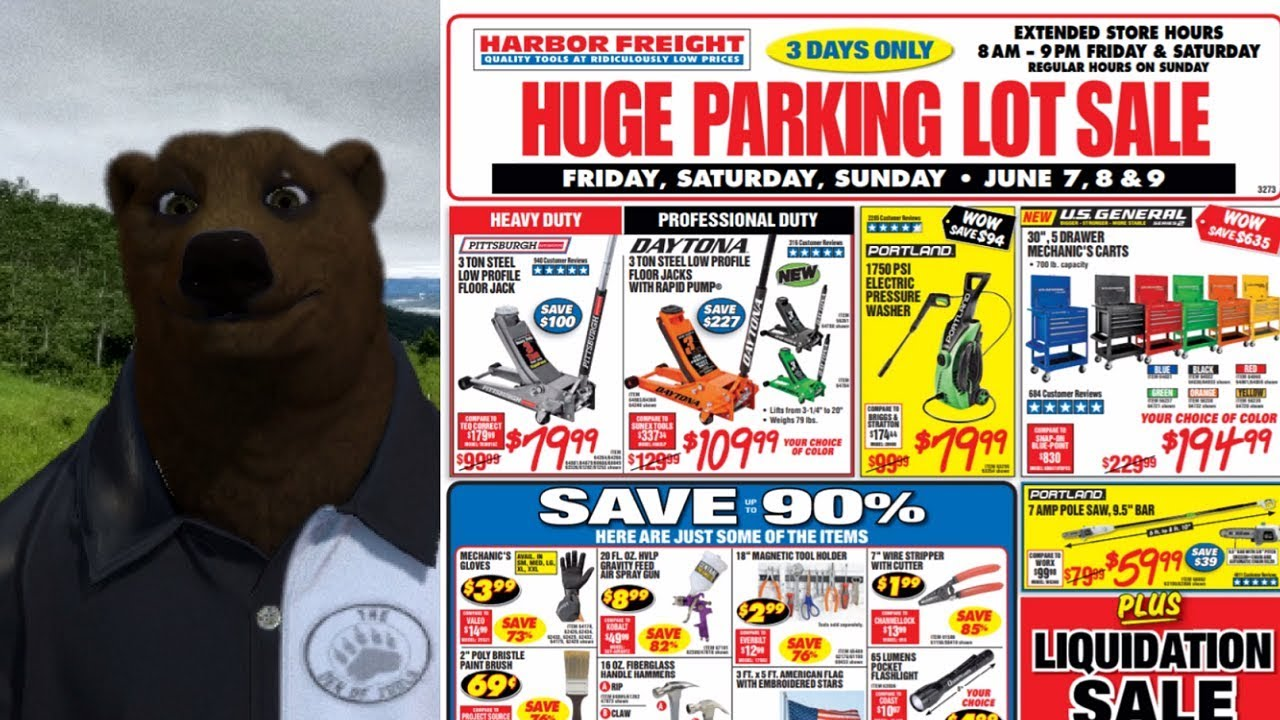 Harbor Freight Christmas Eve Hours.Harbor Freight Parking Lot Sale June 7 8 9