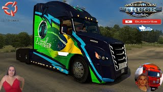 "American Truck Simulator (1.38)   Daimler Freightliner Inspiration fix v1.38 Redding California Team Reforma Sierra Nevada v2.2.24 [Best Map] Mega Resurces v2.1.12 Viva Mexico v2.5.7 by Hugoces Mexico Extremo v2.1.16 Trailer Jazzycat Chevy Step Van Pack AI Traffic v1.0 and Municipal Police Traffic Pack v1.0 FMOD ON and Open Windows Next-Gen Graphics USA New Summer Graphics/Weather V1.1 (1.38) by Grimes Test Gameplay ITA + DLC's & Mods https://sharemods.com/ibuf3hf7jut0/Freightliner_inspiration_FAST_Fix_1.38.zip.html  SCS Software News Iberian Peninsula Spain and Portugal Map DLC Planner...2020 https://www.youtube.com/watch?v=NtKeP0c8W5s Euro Truck Simulator 2 Iveco S-Way 2020 https://www.youtube.com/watch?v=980Xdbz-cms&t=56s Euro Truck Simulator 2 MAN TGX 2020 v0.5 by HBB Store https://www.youtube.com/watch?v=HTd79w_JN4E  #TruckAtHome #covid19italia Euro Truck Simulator 2    Road to the Black Sea (DLC)    Beyond the Baltic Sea (DLC)   Vive la France (DLC)    Scandinavia (DLC)    Bella Italia (DLC)   Special Transport (DLC)   Cargo Bundle (DLC)   Vive la France (DLC)    Bella Italia (DLC)    Baltic Sea (DLC) Iberia (DLC)   American Truck Simulator New Mexico (DLC) Oregon (DLC) Washington (DLC) Utah (DLC) Idaho (DLC) Colorado (DLC)     I love you my friends Sexy truck driver test and gameplay ITA  Support me please thanks Support me economically at the mail vanelli.isabella@gmail.com  Roadhunter Trailers Heavy Cargo  http://roadhunter-z3d.de.tl/ SCS Software Merchandise E-Shop https://eshop.scssoft.com/  Euro Truck Simulator 2 http://store.steampowered.com/app/227... SCS software blog  http://blog.scssoft.com/  Specifiche hardware del mio PC: Intel I5 6600k 3,5ghz Dissipatore Cooler Master RR-TX3E  32GB DDR4 Memoria Kingston hyperX Fury MSI GeForce GTX 1660 ARMOR OC 6GB GDDR5 Asus Maximus VIII Ranger Gaming Cooler master Gx750 SanDisk SSD PLUS 240GB  HDD WD Blue 3.5"" 64mb SATA III 1TB Corsair Mid Tower Atx Carbide Spec-03 Xbox 360 Controller Windows 10 pro 64bit"