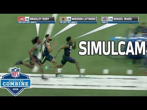40-Yard Dash Simulcam: Denzel Ward vs. Marshon Lattimore, Bradley Roby & More! | NFL Combine