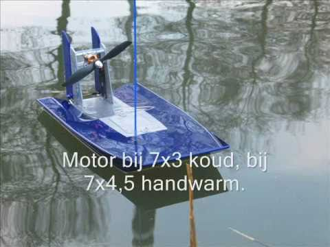 RC airboat, brushless powered - YouTube
