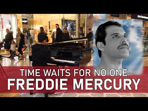 Freddie Mercury Time Waits For No One Piano Cover Shopping Mall Piano Cole Lam 12 Years Old