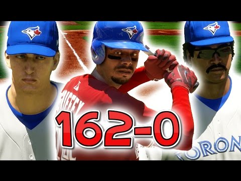 COULD A TEAM OF THE BEST MLB LEGENDS GO 162-0? MLB THE SHOW 17