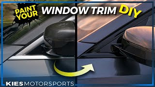 How to PAINT your TRIM for $15 // BETTER than VINYL WRAP // SHADOW LINE