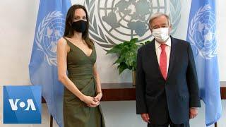 Angelina Jolie Meets With UN Secretary-General Antonio Guterres