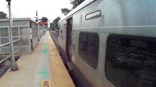 MTA Long Island Railroad Bombardier M7 Railroad Train Leaving Little Neck Station