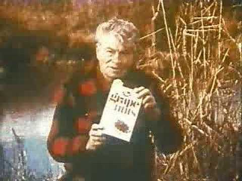 Euell Gibbons For Grape Nuts (fixed sound)