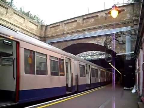 District Line trains passing over the East London Line at Whitechapel