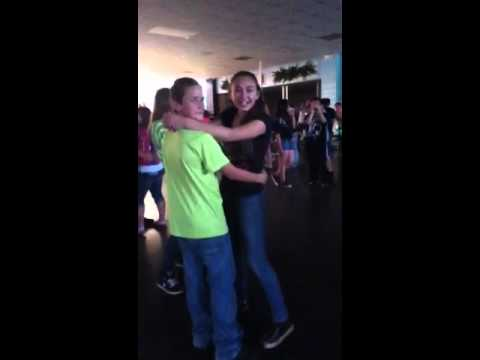 Kyle and Kimberly at the dance :